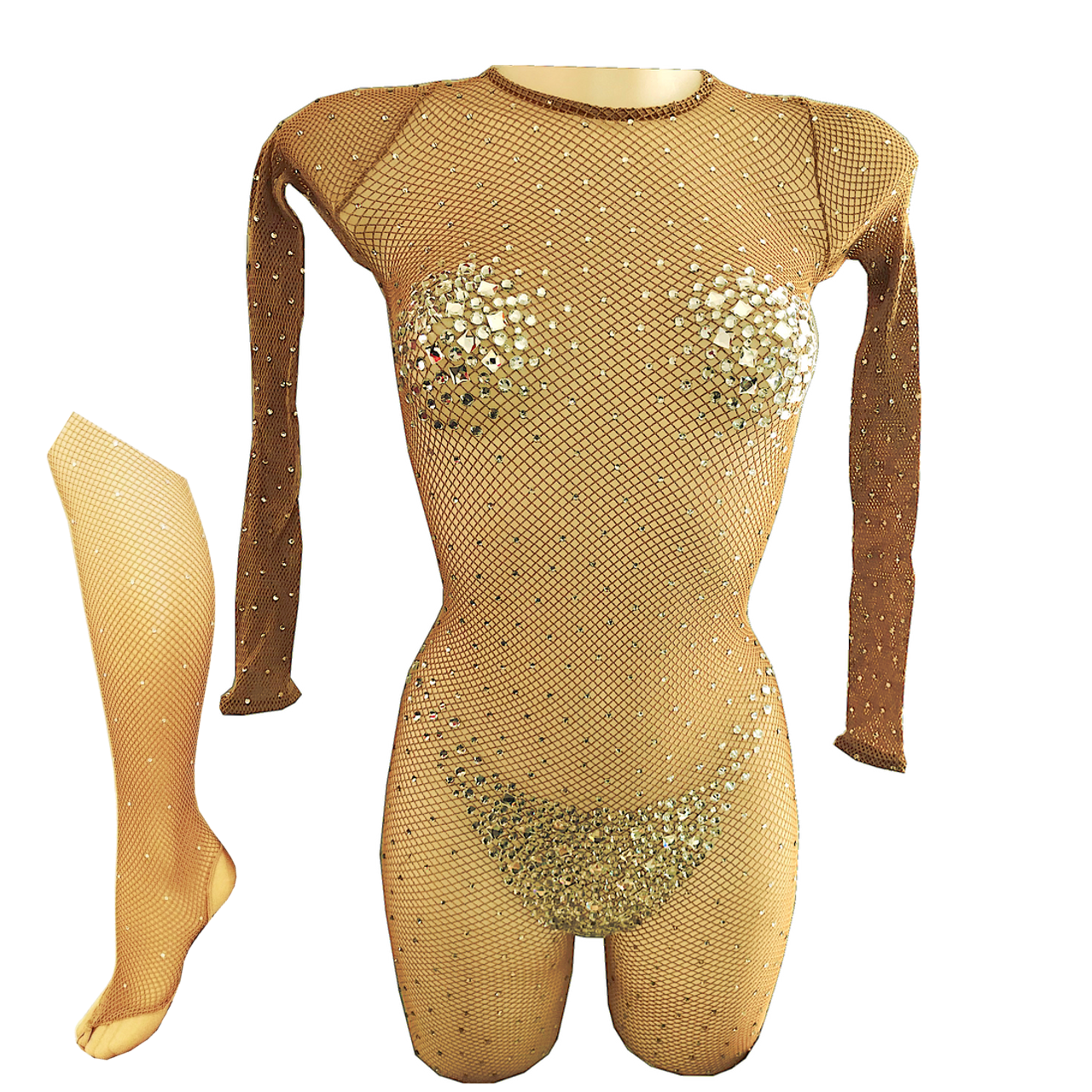 Aca 09 c academique resille chair suntan sans pieds strasse qualite professionnel de danse tenue de scene