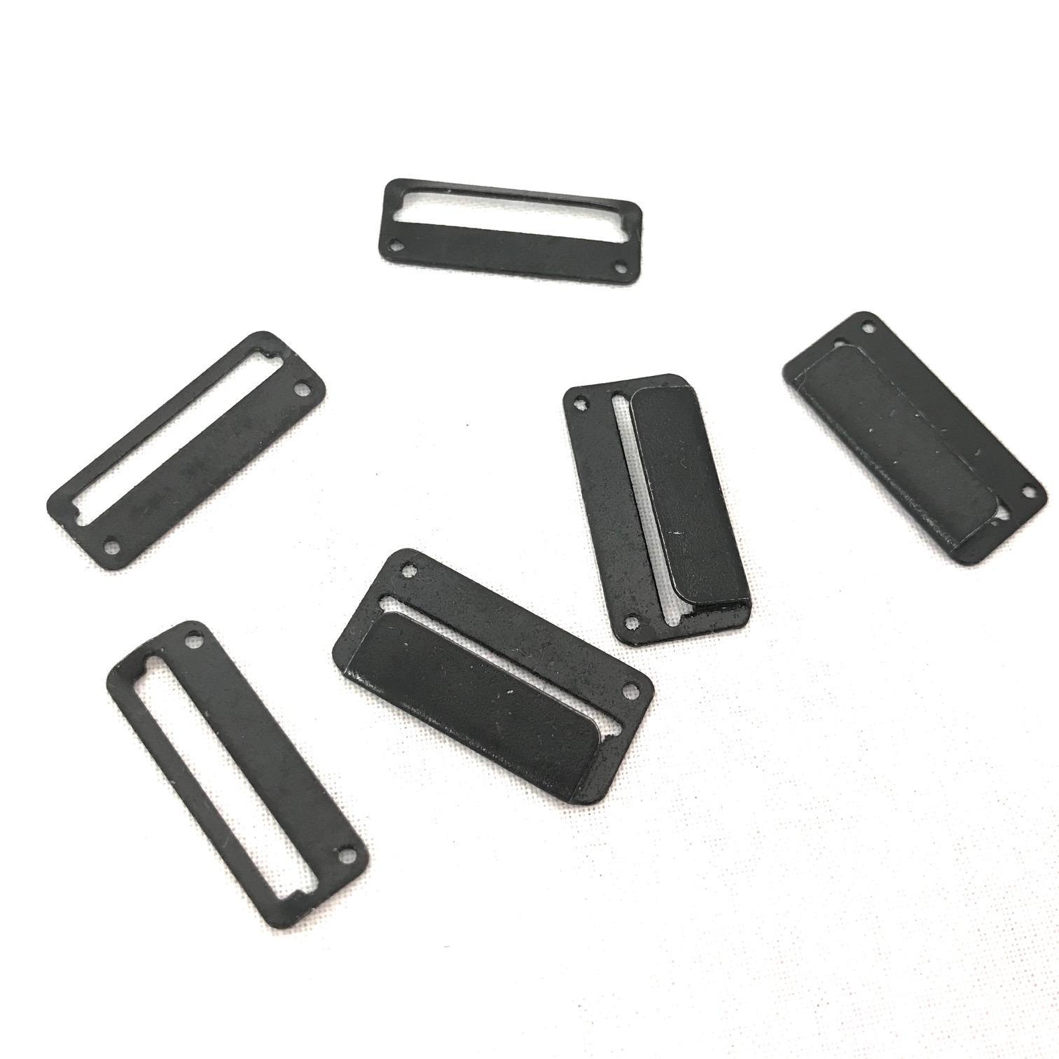Agrafes jupe noir 25mm mercerie couture