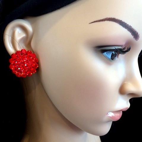 Bo 09 boucle d oreilles en strass