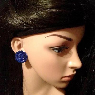 Boucles d'oreille en strass
