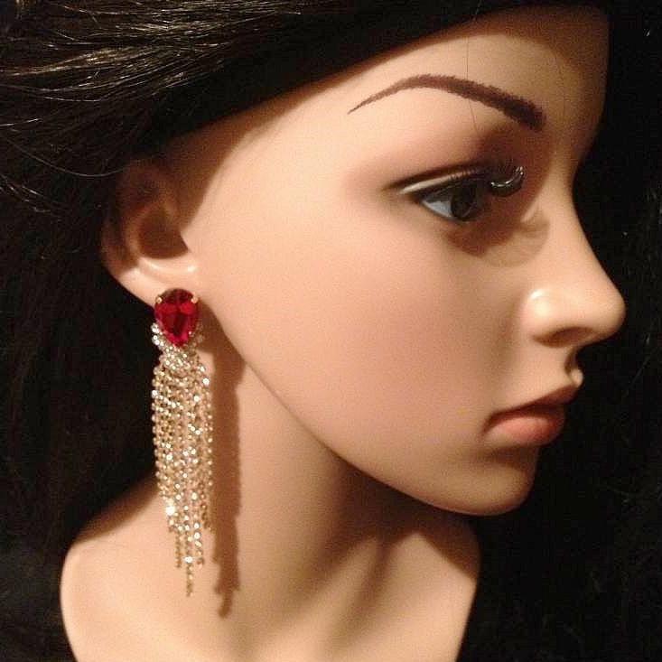 Bo 47 boucle d oreilles en strass
