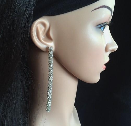 Bo 56 boucles d oreilles en strass