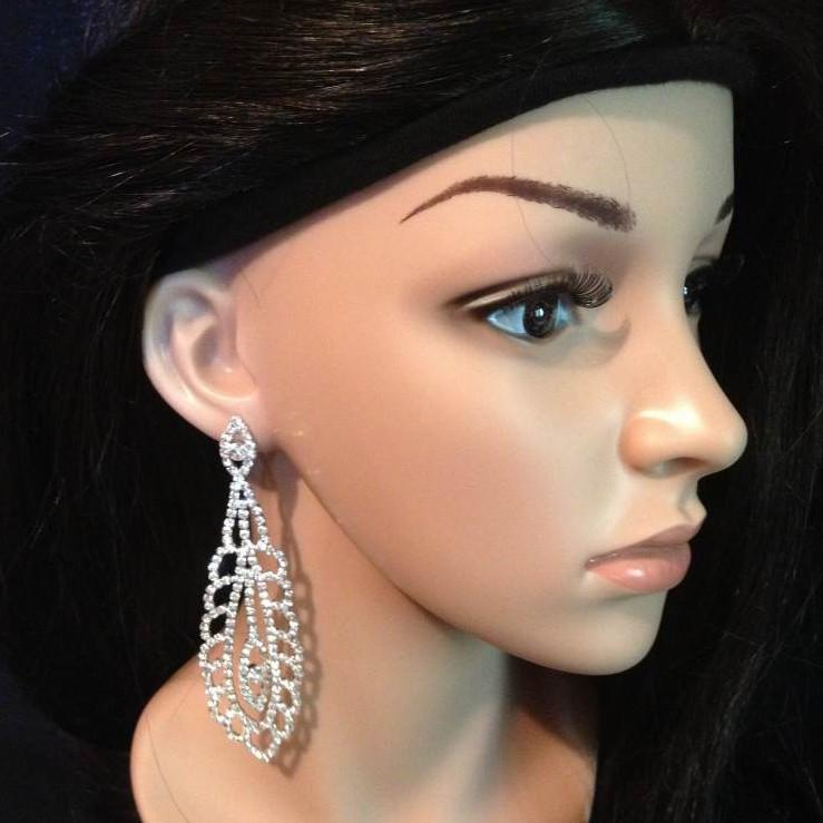 Bo 58 boucles d oreilles en strass