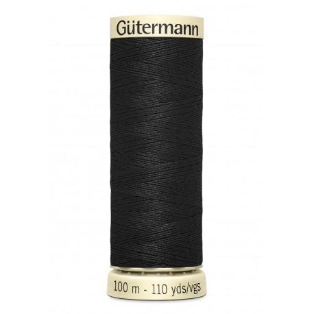 Bobine n000 noir de fil pour tout coudre polyester gutermann 100 m