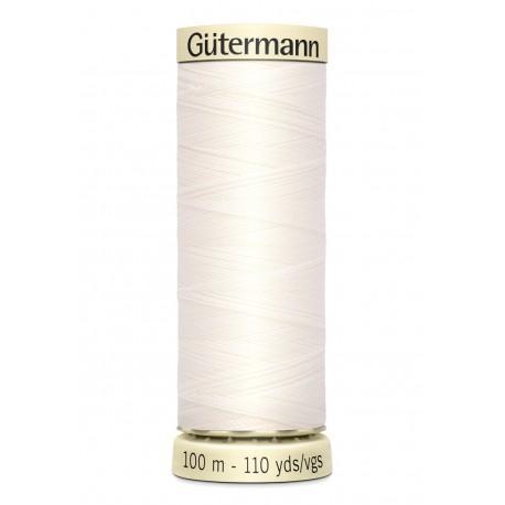 Bobine n111 de fil pour tout coudre polyester gutermann 100 m