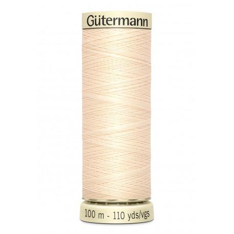 Bobine n414 de fil pour tout coudre polyester gutermann 100 m