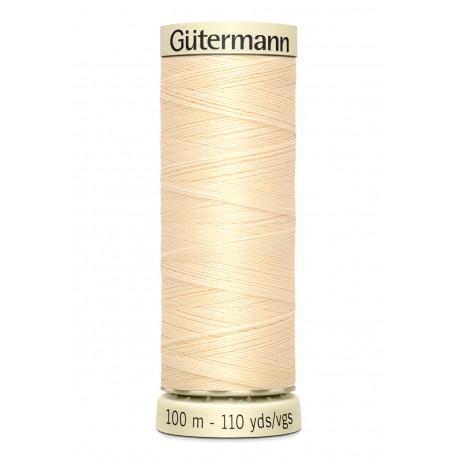 Bobine n610 de fil pour tout coudre polyester gutermann 100 m