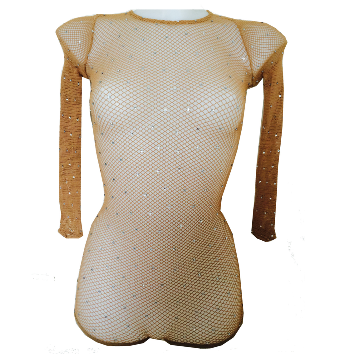 Body resille strasse pour danse qualite professionnel chair suntan
