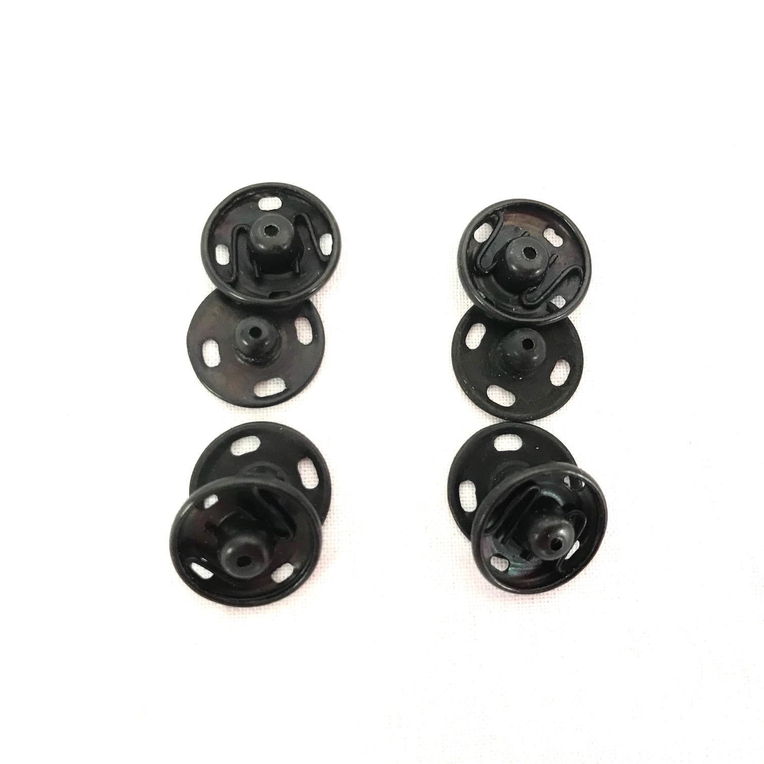 Boutons pression noir 15mm couture mercerie