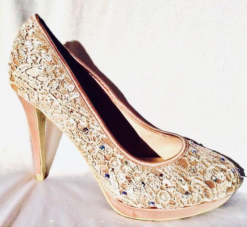 Chaussure femme couleur chair avec strass ch ab60b