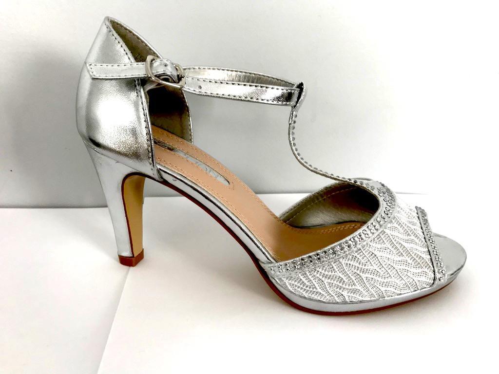 Chaussures femmes argent scenes spectacles ch wl128