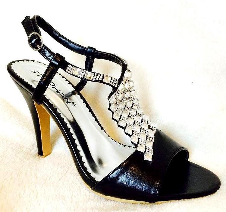 Chaussures femmes avec strass noir ch wo