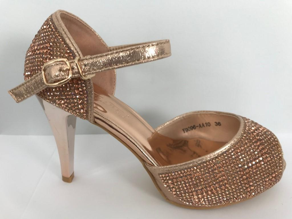 Chaussures femmes en strass champagne scenes spectacle ch y9096c