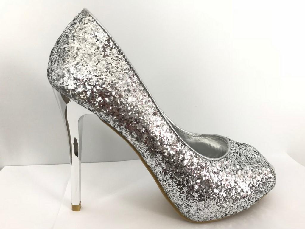 Chaussures femmes paillettes argents scenes spectacles ch f15 1