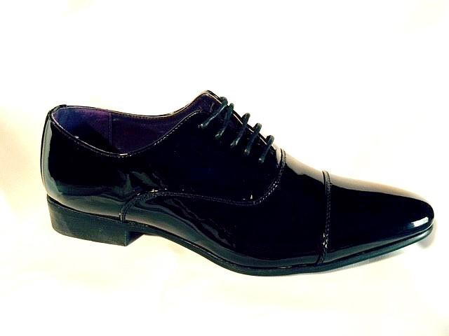 Chaussures vernis noir homme ch 5585n