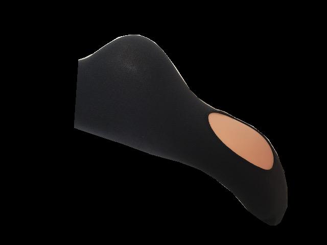 Collant microfibre convertible avec ou sans pieds pour danse qualite professionnel gros plan noir