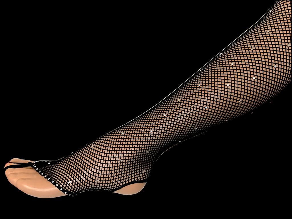 Collant resille noir sans pieds tout strasse