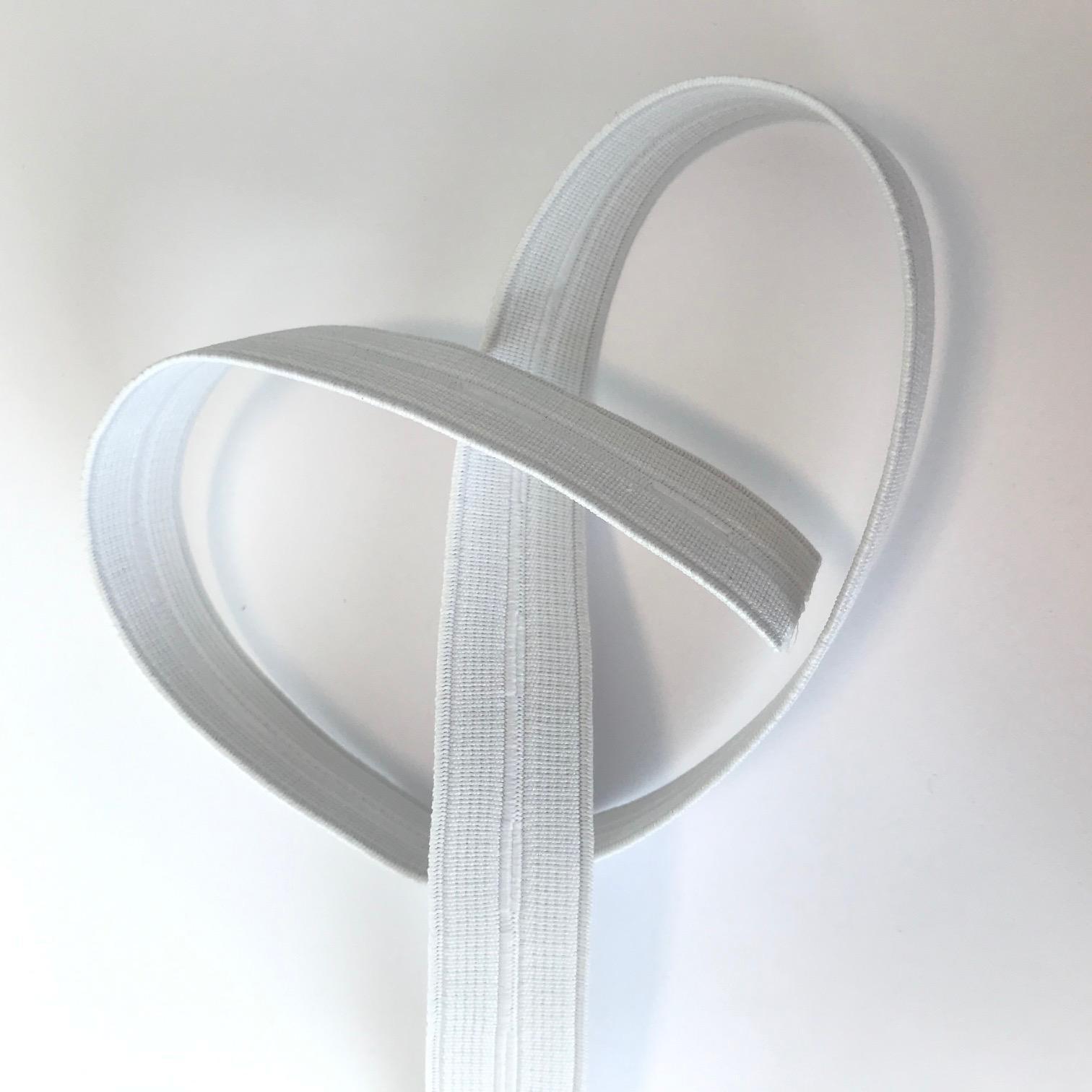 Elastique blanc boutonniere 20mm