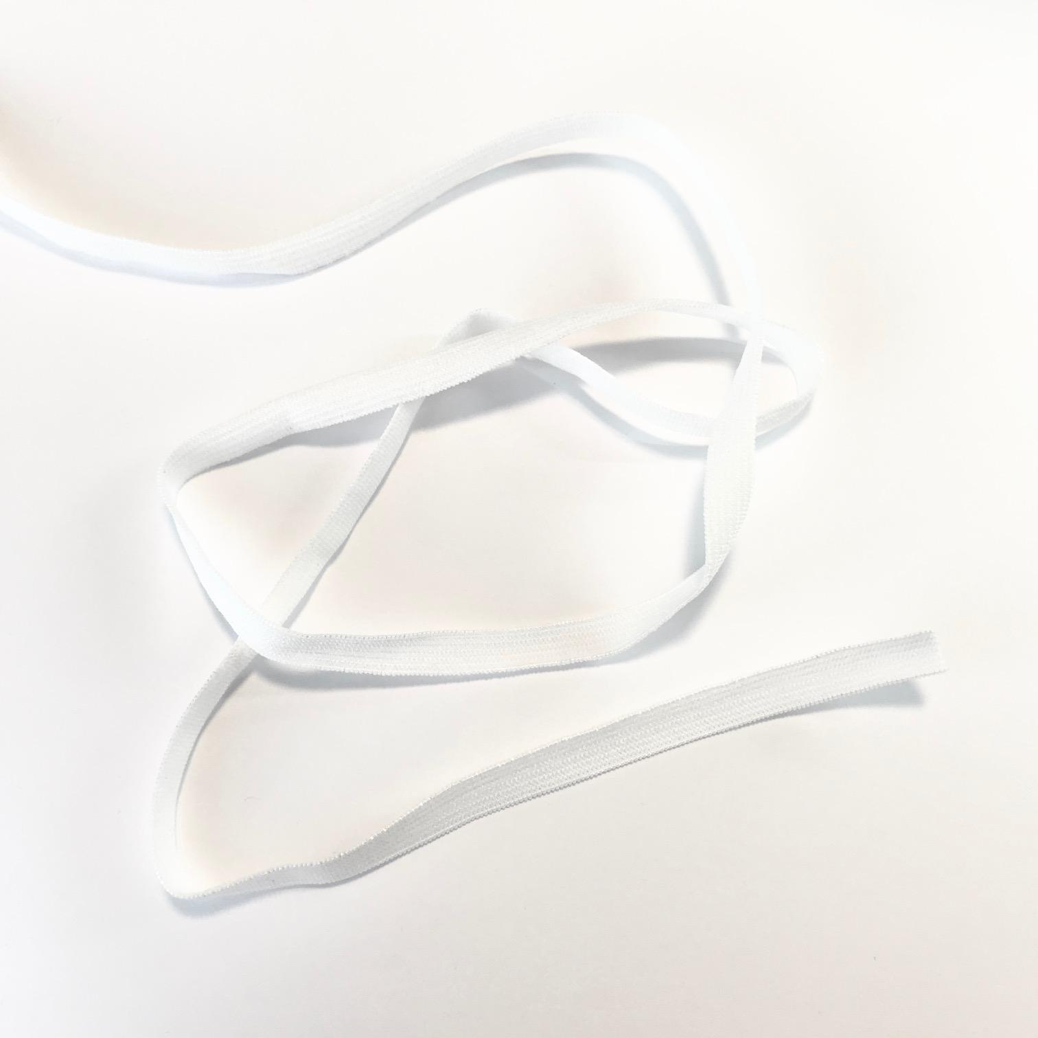 Elastique plat blanc 7mm ideal masque