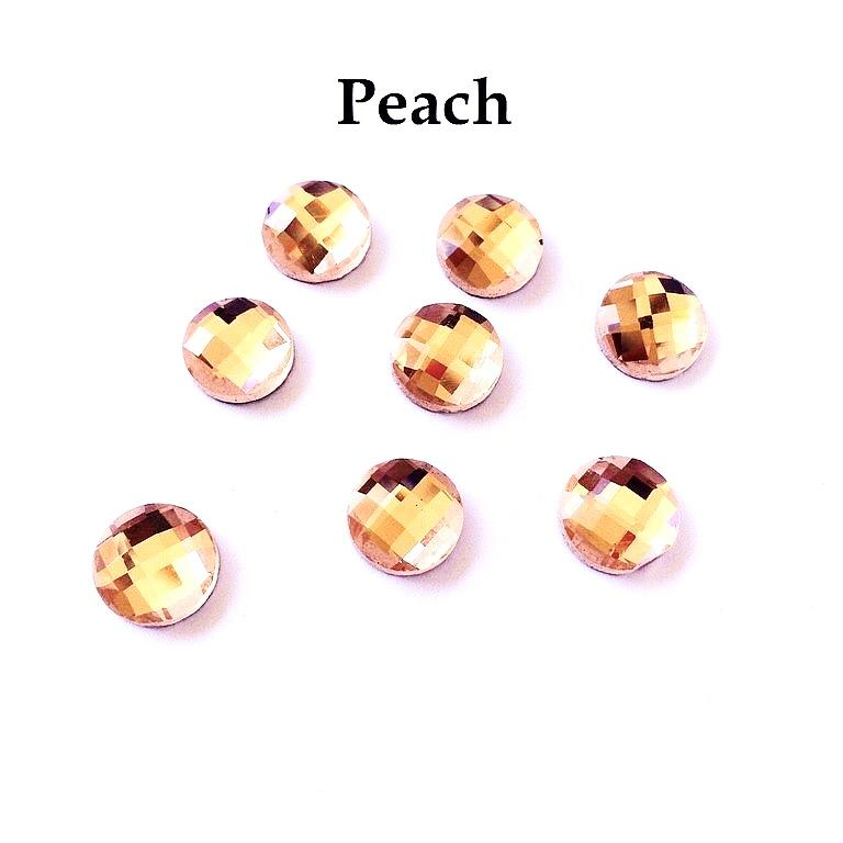 Element hotfix thermocollant rond peach 10mm hf2210