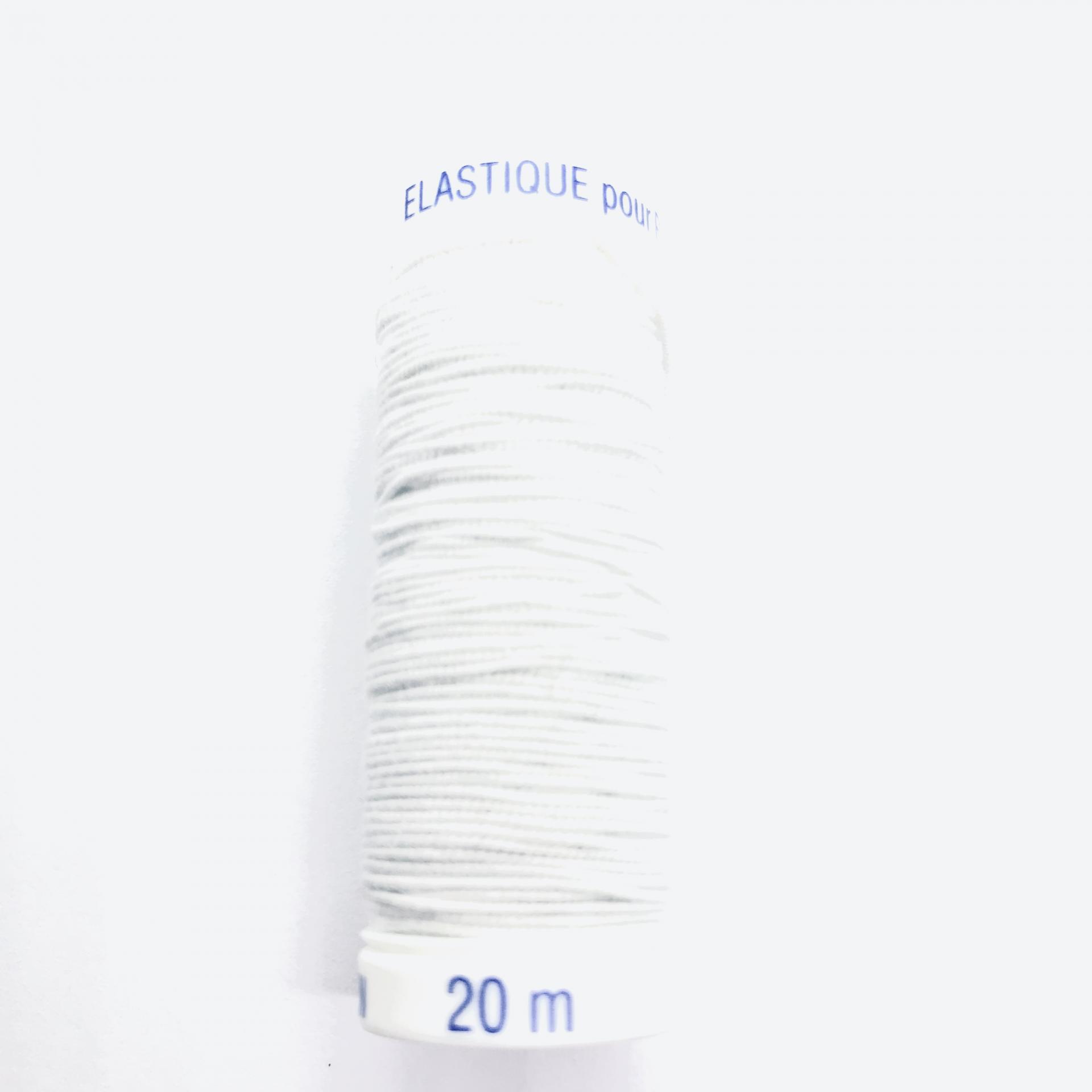 Fil elastique pour fronces 1cm de diametre 20m blanc