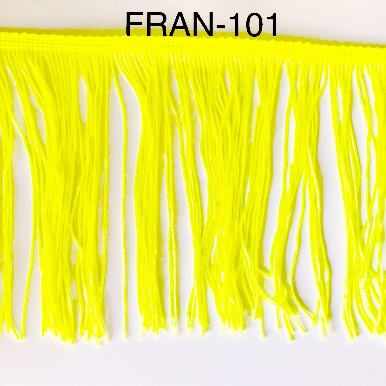 Franges a coudre 15cm jaune fluo 101