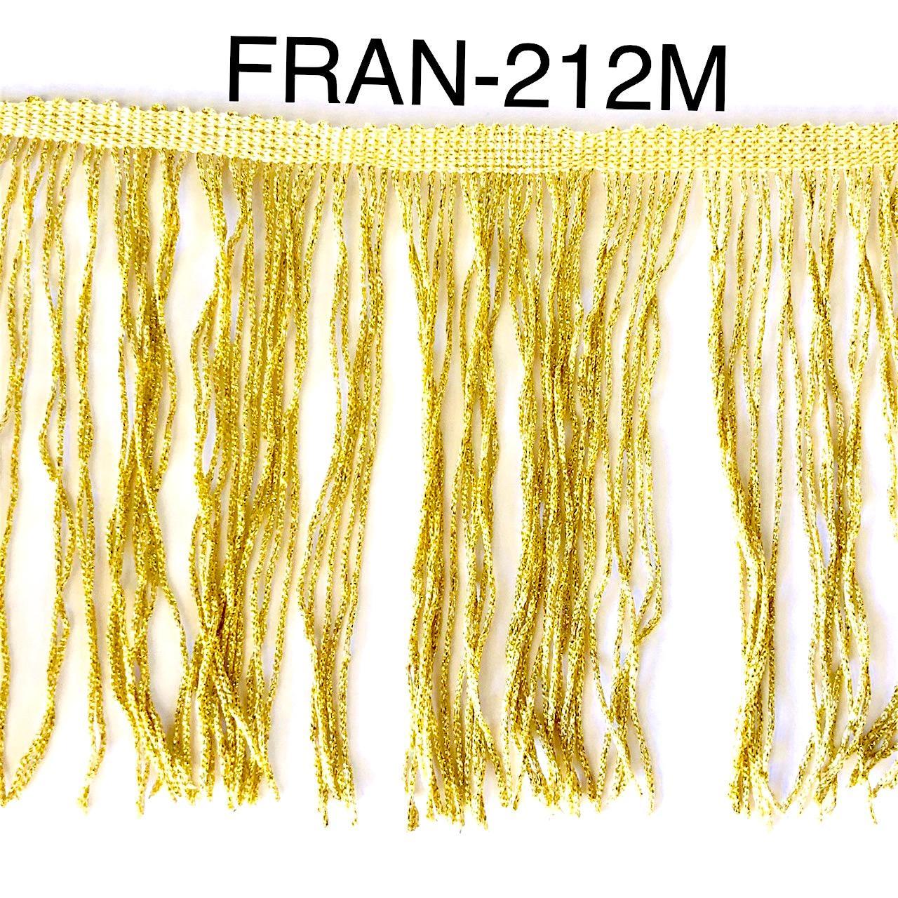 Franges a coudre brillante 15cm or dore