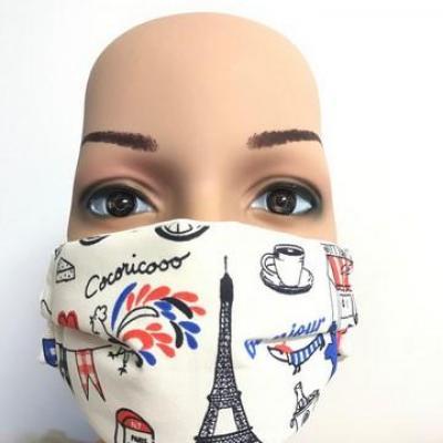 Masque en tissu adulte avec pont de nez France