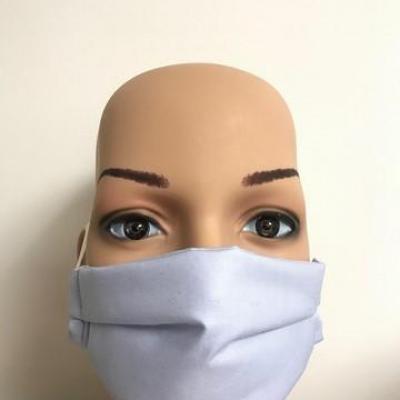 Masque en tissu adulte avec pont de nez bleu