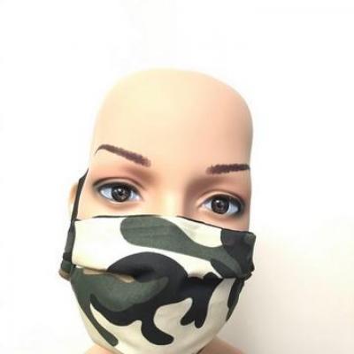 Masque en tissu adulte avec pont de nez camouflage