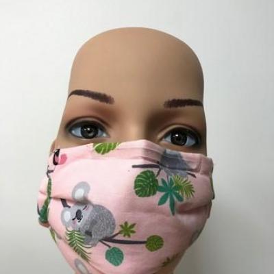 Masque en tissu adulte avec pont de nez koalas
