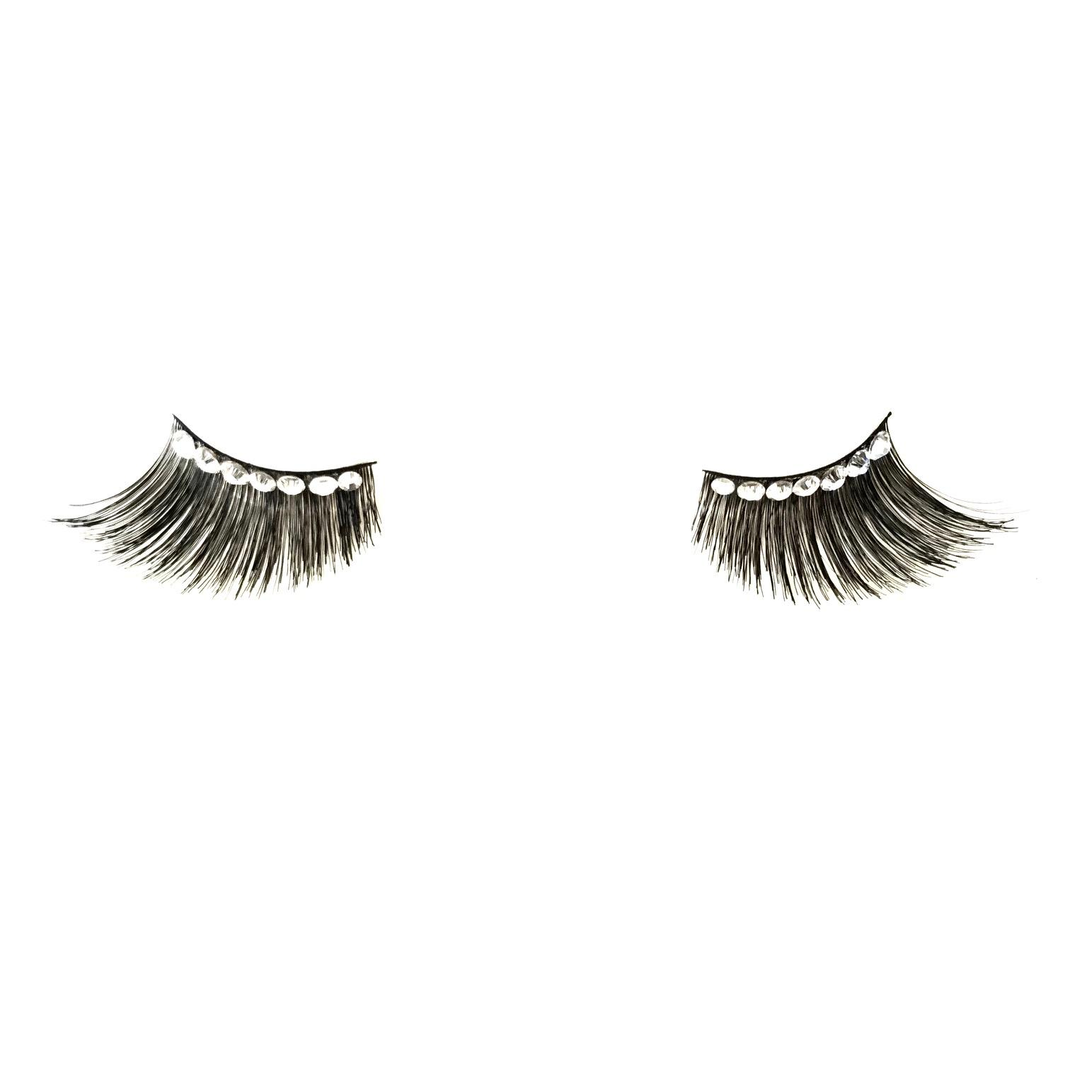 Maquillage kryolan faux cils avec strass 9381