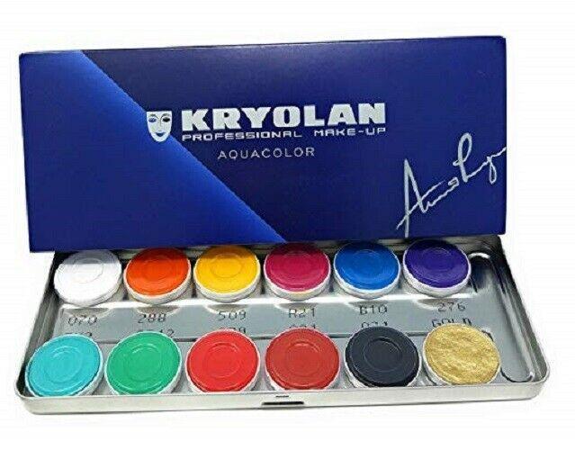 Maquillage kryolan palette aquacolor 12couleurs 1104 fp