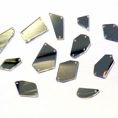 Assortiment de 12 miroirs à coudre acrylique