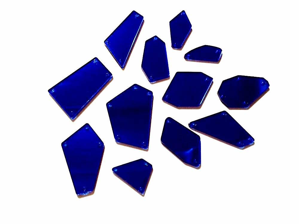 Miroirs a coudre bleu pour tenue de scene