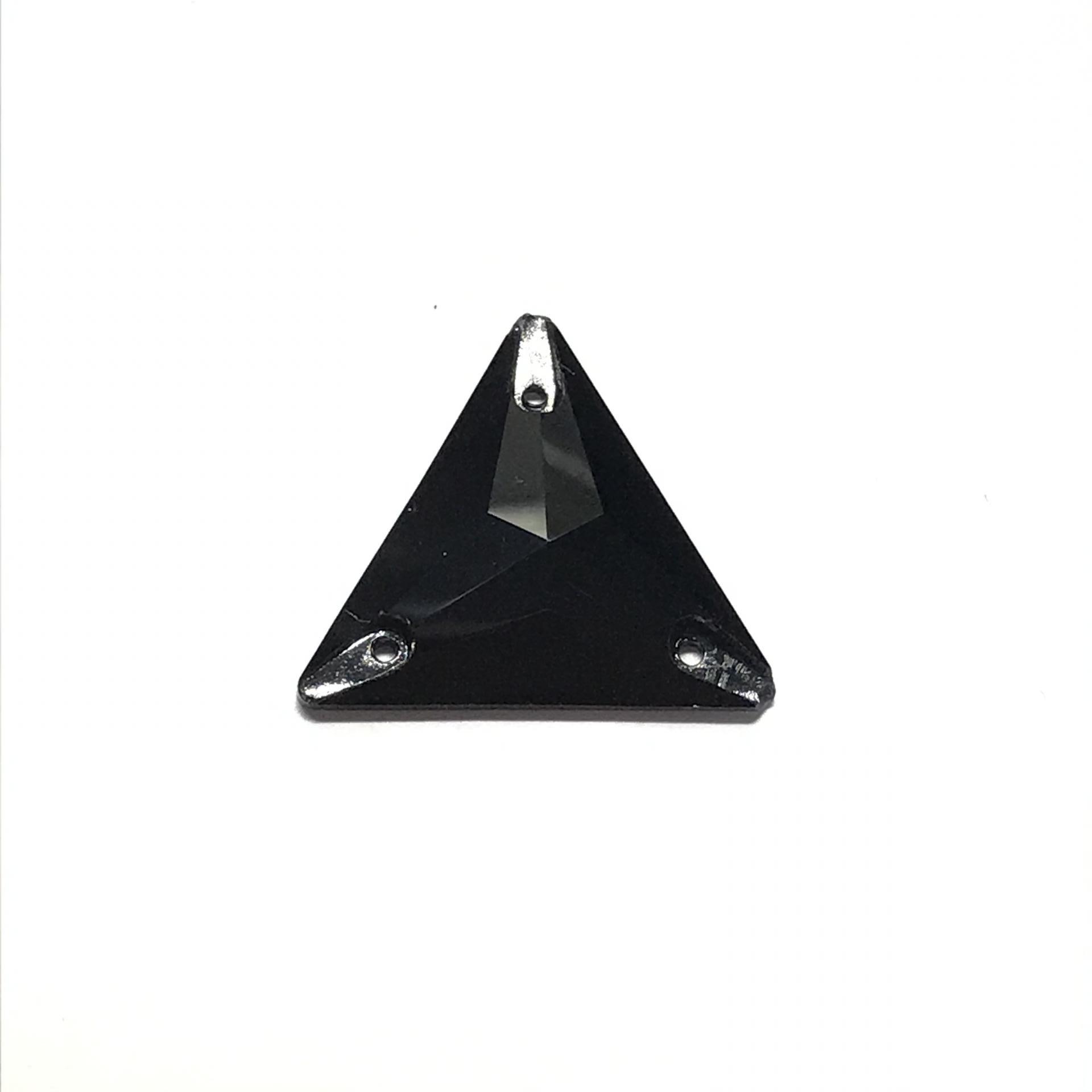 Pierre a coudre en verre cristal jet noir 16 16 8069