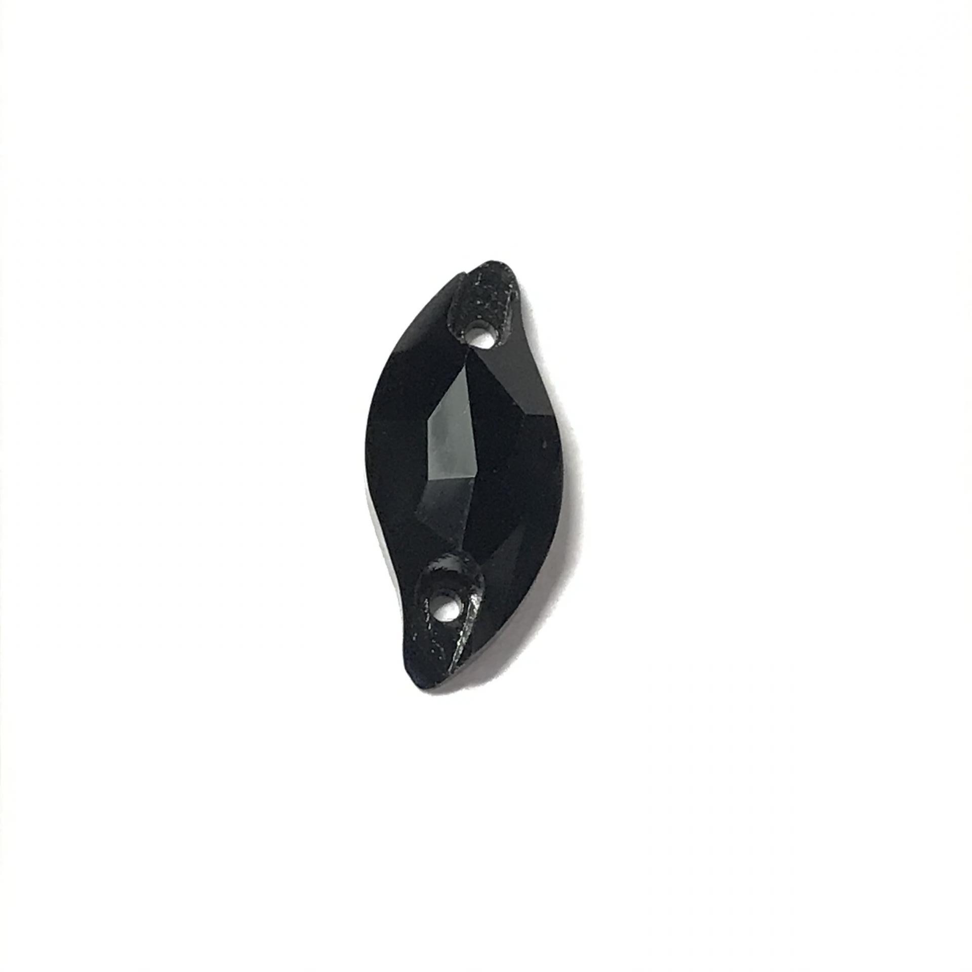 Pierre a coudre en verre cristal jet noir 9 20 8071