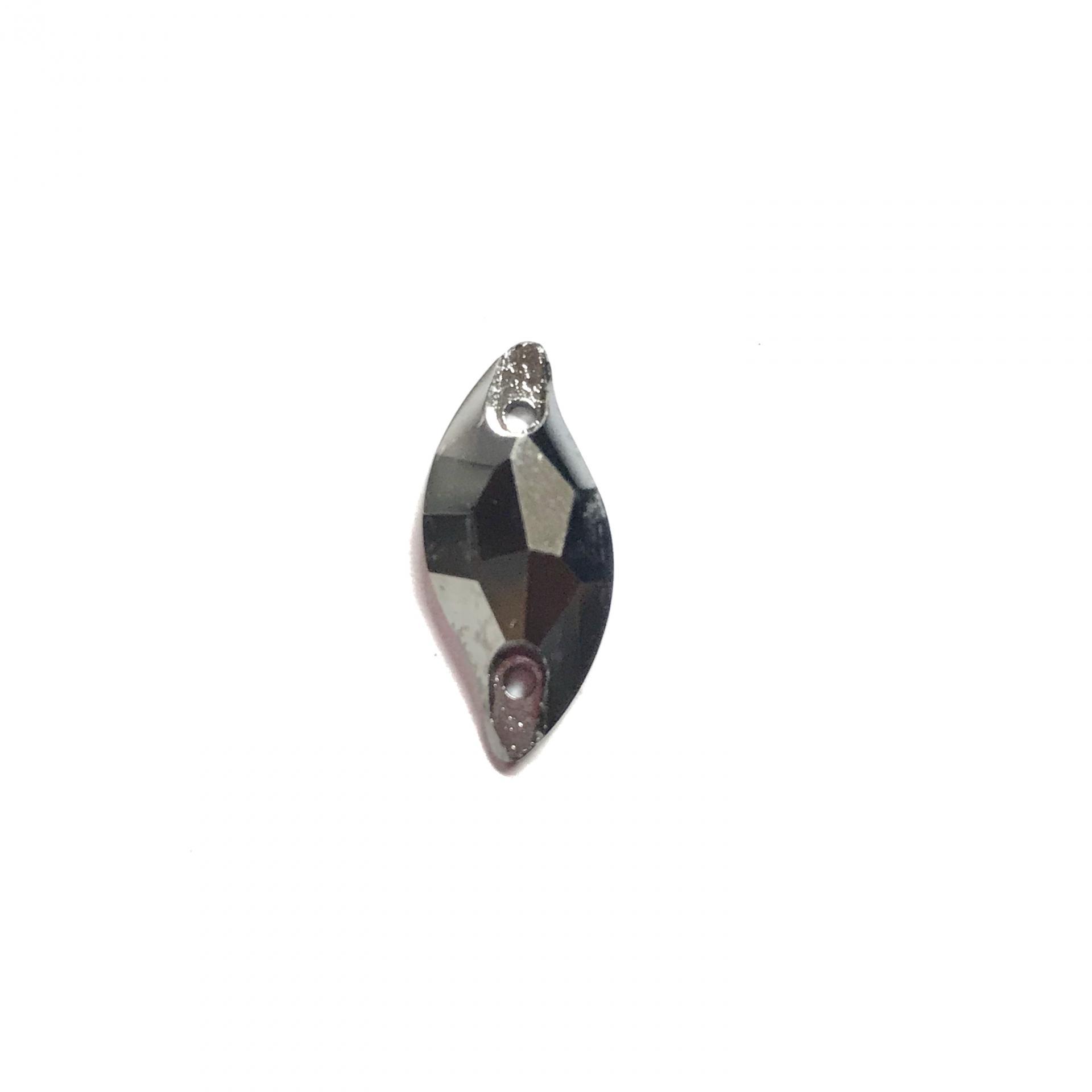 Pierre a coudre en verre cristal metal silver 9 20 8071