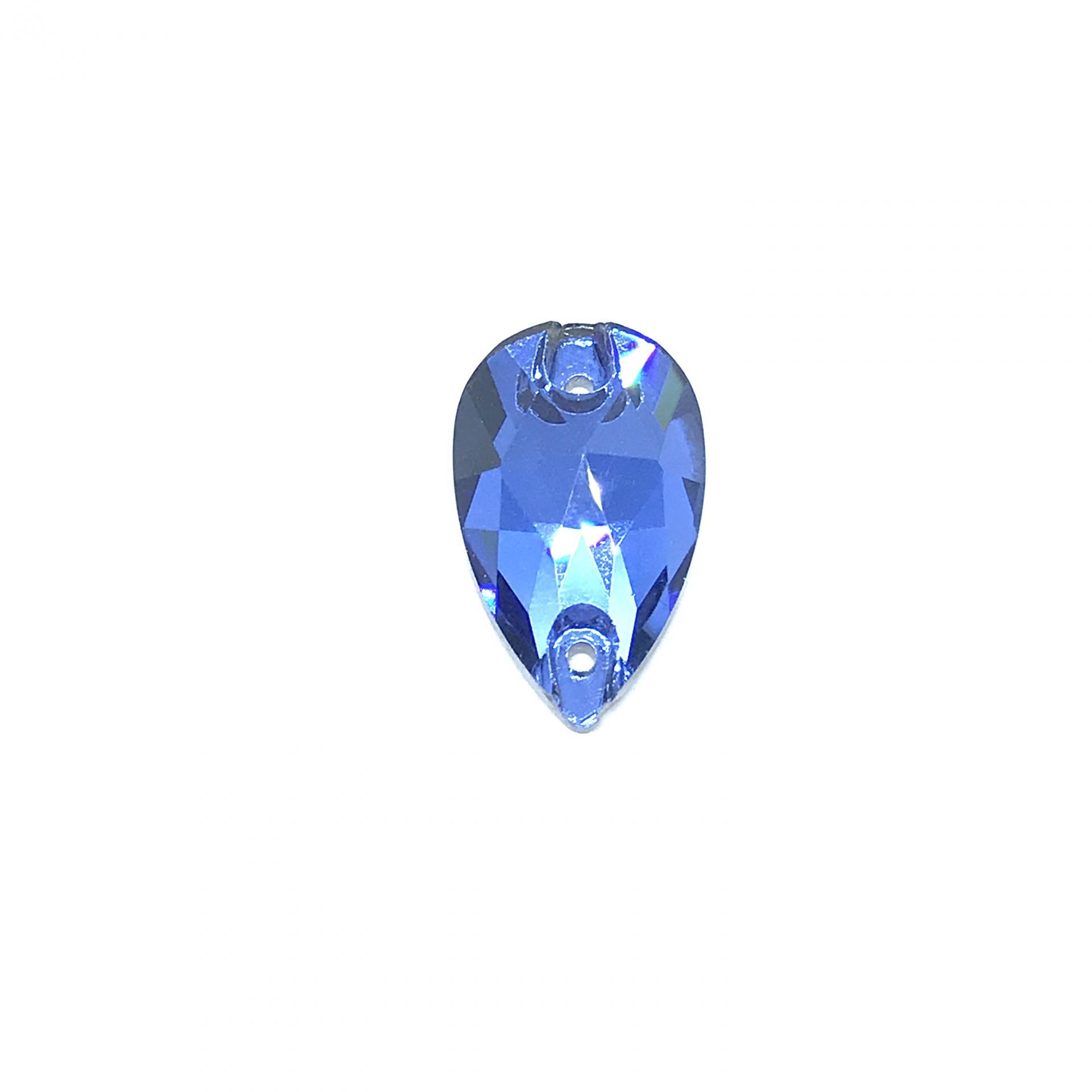 Pierre a coudre en verre cristal saphir light 10 18 8065