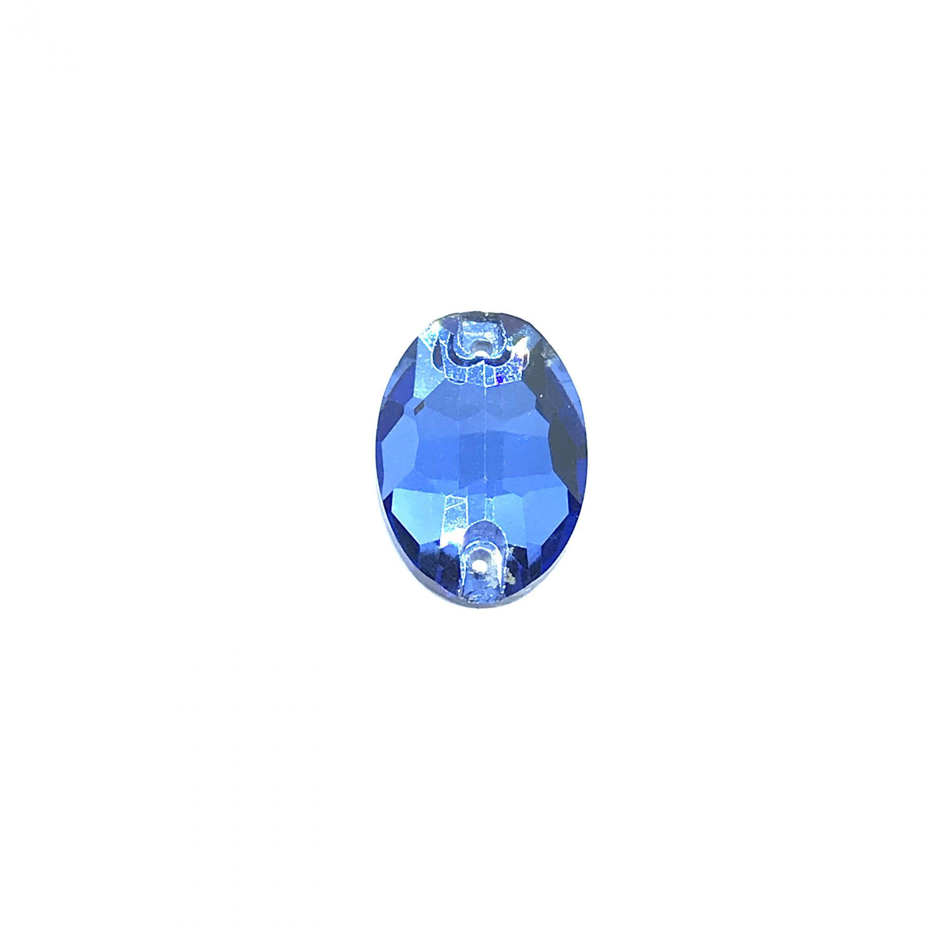Pierre a coudre en verre cristal saphir light 11 16 8063