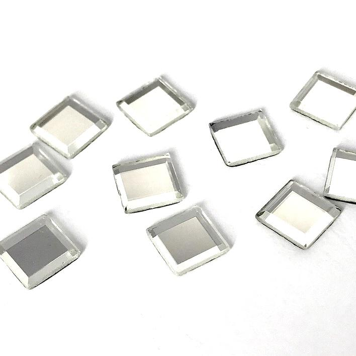 Strass elements thermocollant miroirs hotfix cristal 10mm mm10