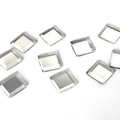 Miroir Hotfix thermocollant 10x10mm