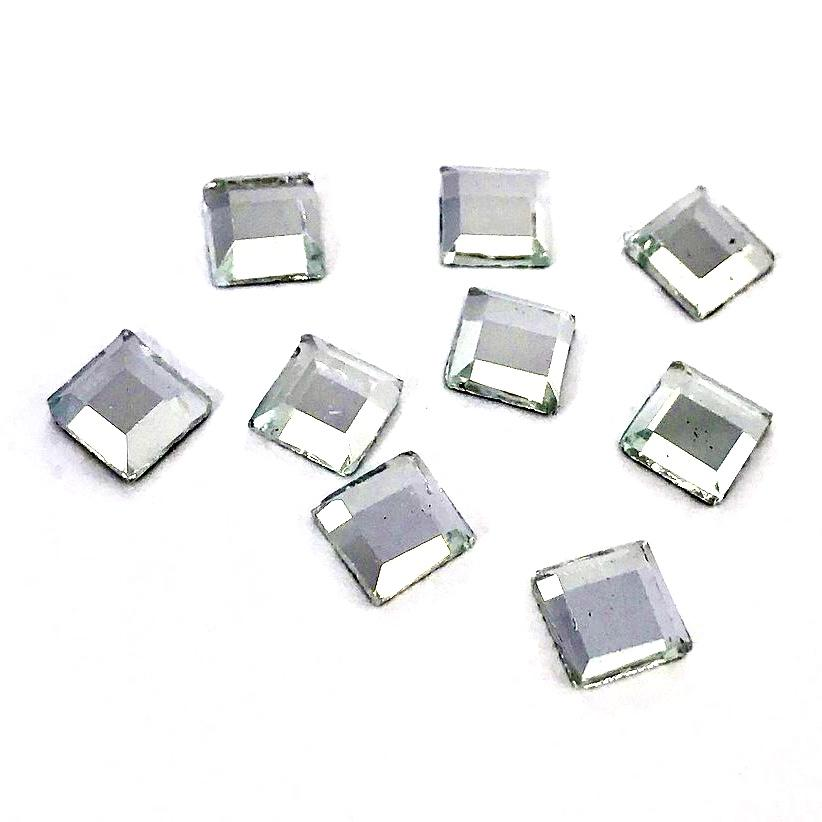 Strass elements thermocollant miroirs hotfix cristal 6mm mm6