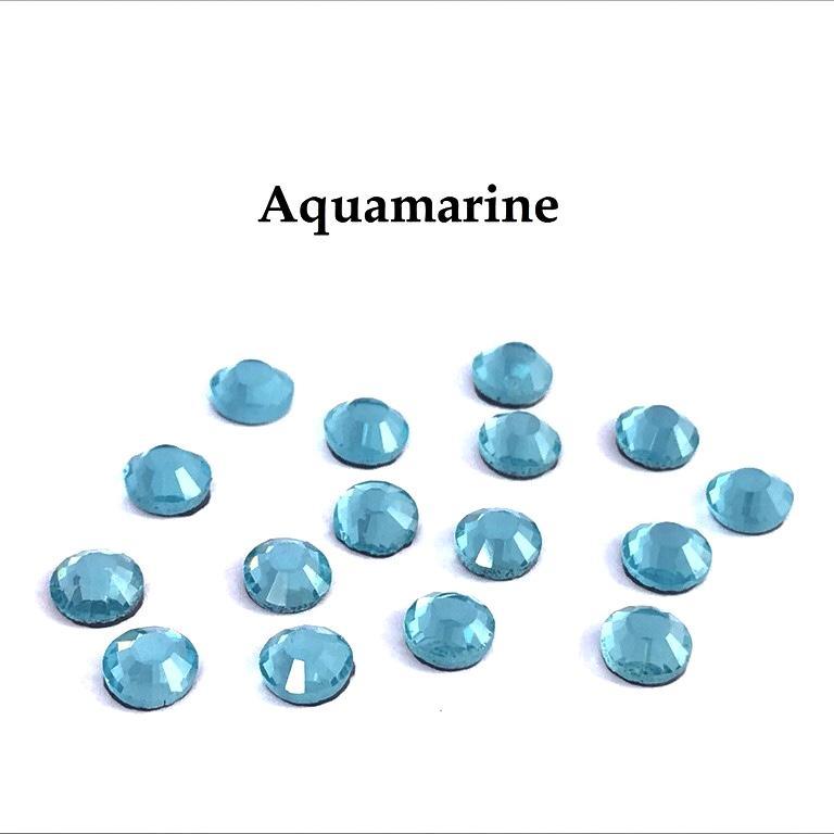 Strass hotfix thermocollant ss10 3mm aquamarine