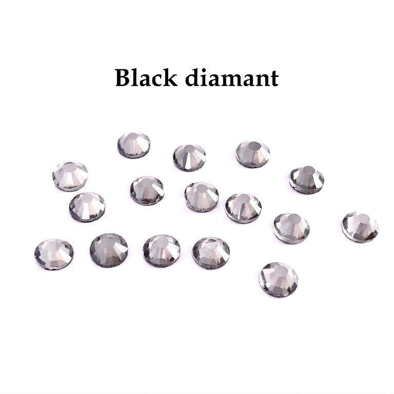 Strass hotfix thermocollant ss10 3mm black diamant