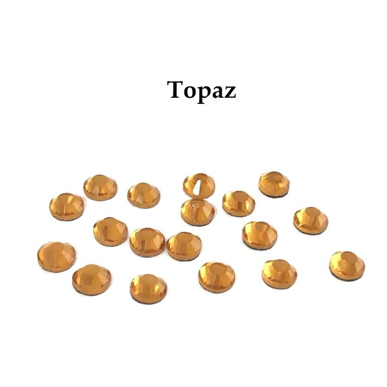Strass hotfix thermocollant ss16 topaz 4mm