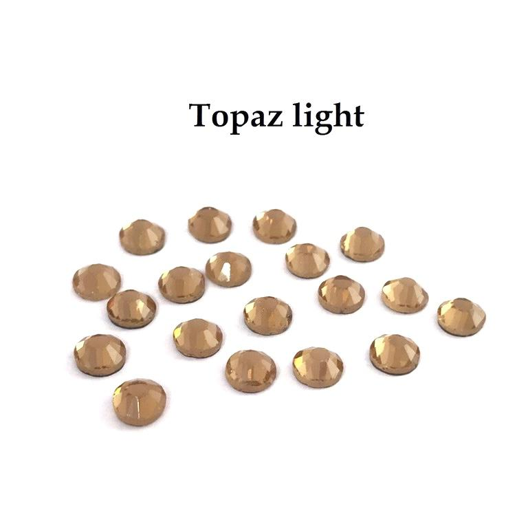 Strass hotfix thermocollant ss16 topaz light 4mm
