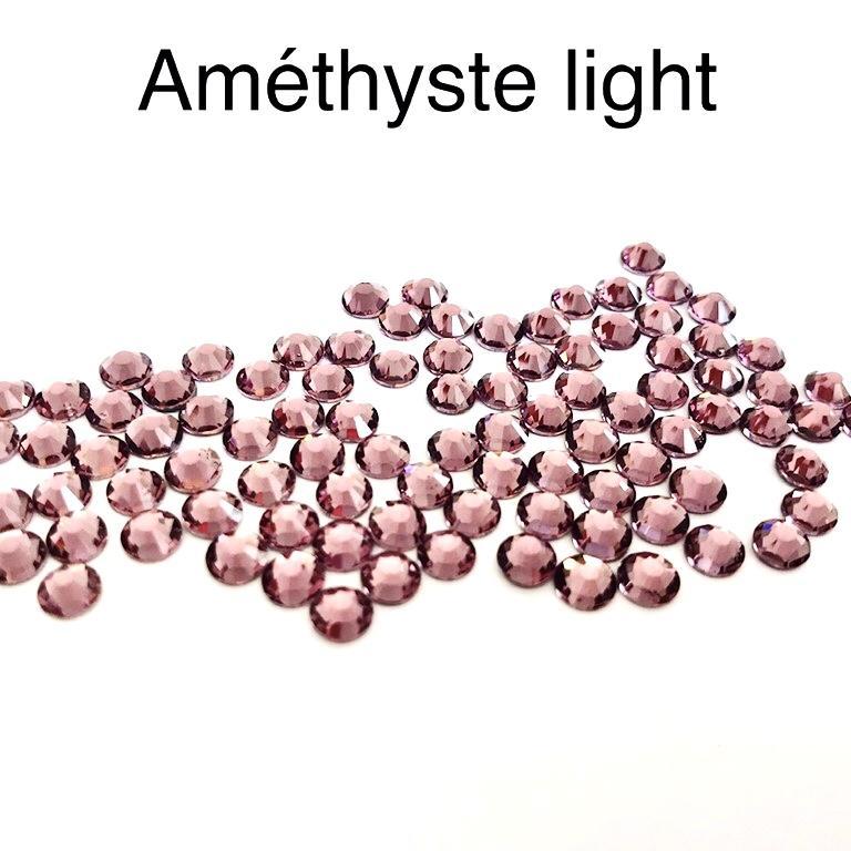 Strass hotfix thermocollant ss20 5mm amethyste light