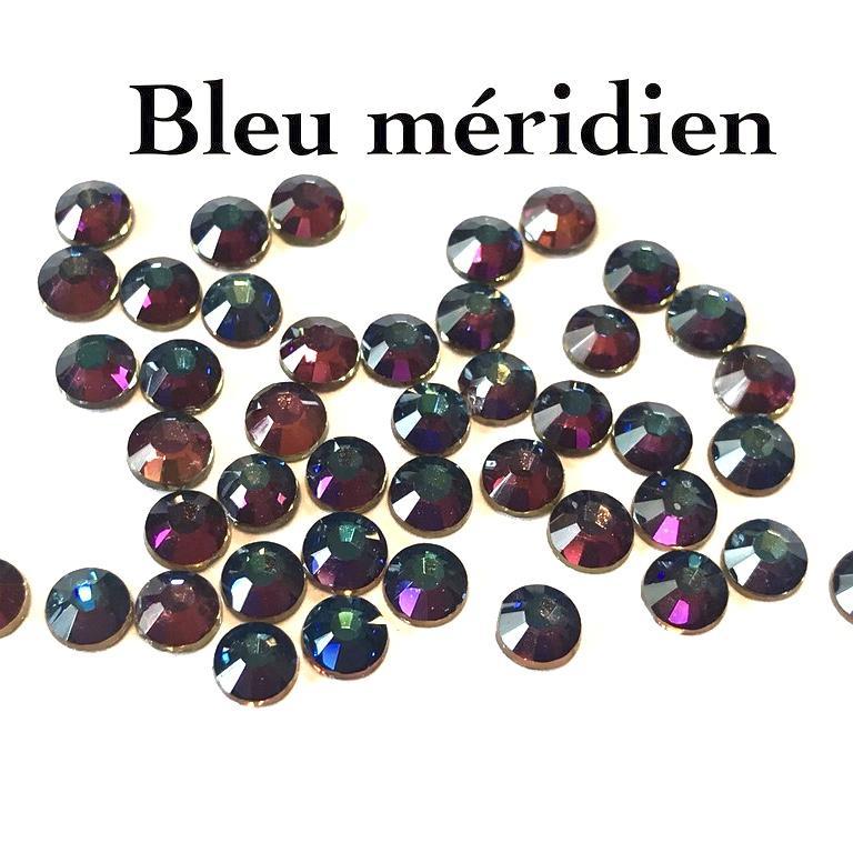 Strass hotfix thermocollant ss20 5mm bleu meridien