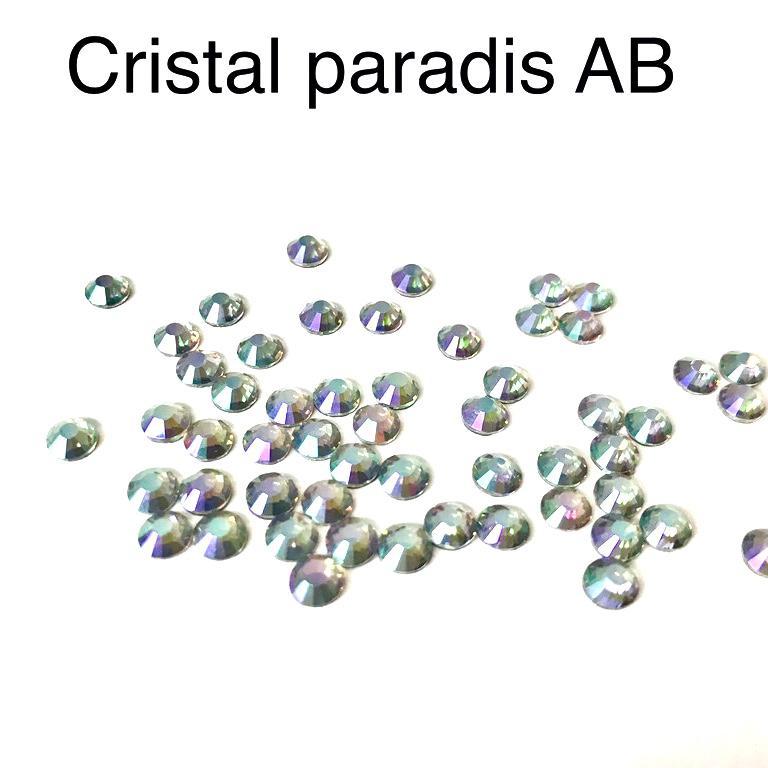 Strass hotfix thermocollant ss20 5mm cristal paradis ab
